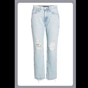 NEW - HUDSON Jessi Ripped Crop Boyfriend Jeans